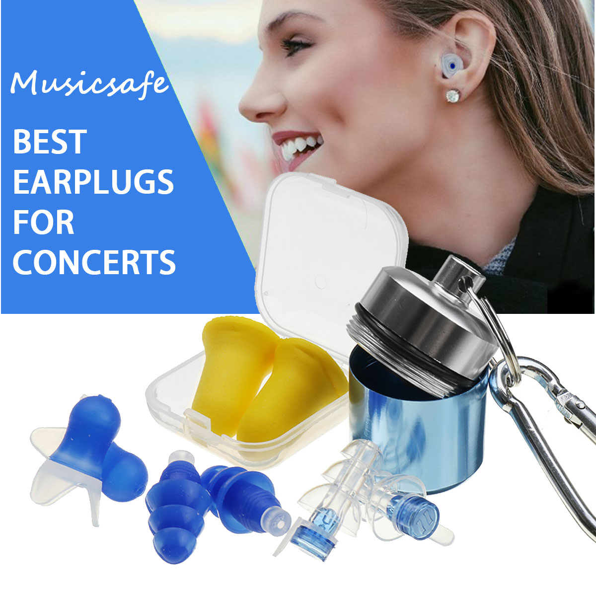 1pair Silicone Ear Plugs Anti Noise Snore Earplugs Comfortable For Study VGCA