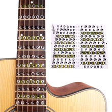 Acoustic Electric Guitar Fretboard Note Music Sticker/ Stikers Decal Neck Sticker On Guitarra