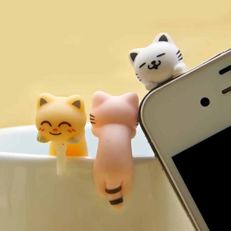 CatXaa Cellphone 3.5mm Earphone Jack Port Music Audio Dust Plug Cat Kitty Model 3.5 Stopper Decor Protector For OPPO VIVO Huawei