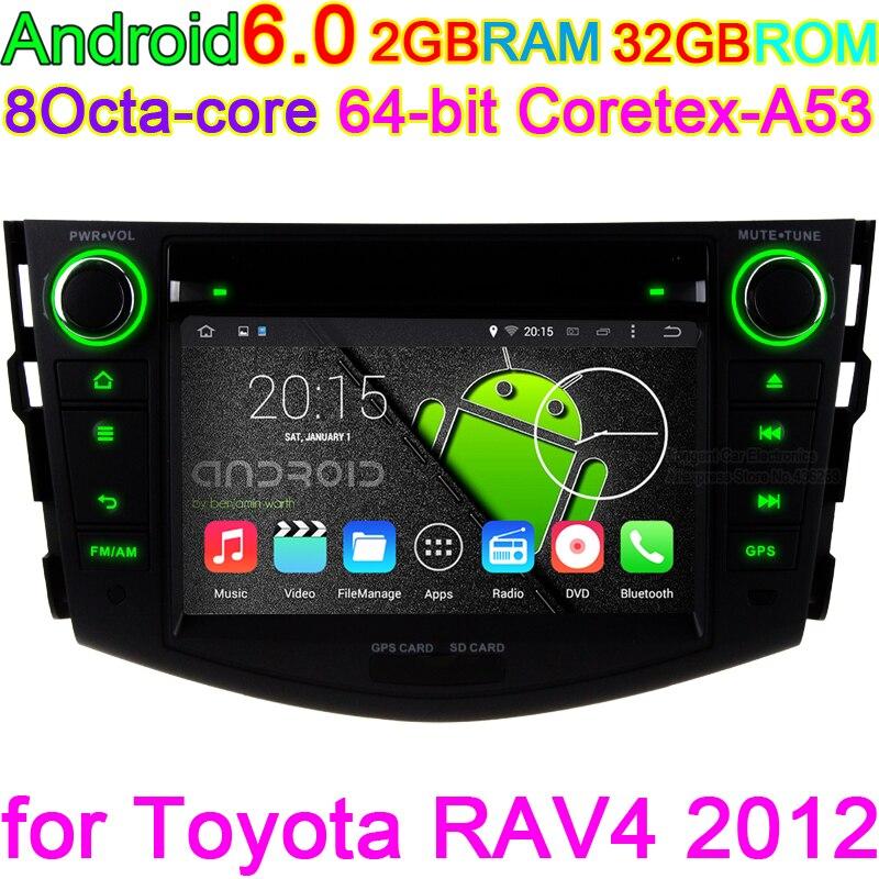Android 6.0 Car DVD Player For Toyota RAV4 2006 2007 2008 2009 2010 2010 2012 Radio Stereo GPS Octa Core Unite 2GB RAM 32GB ROM brand new fabric rear trunk security shield cargo cover black for toyota rav4 rav 4 2006 2007 2008 2009 2010 2011 2012