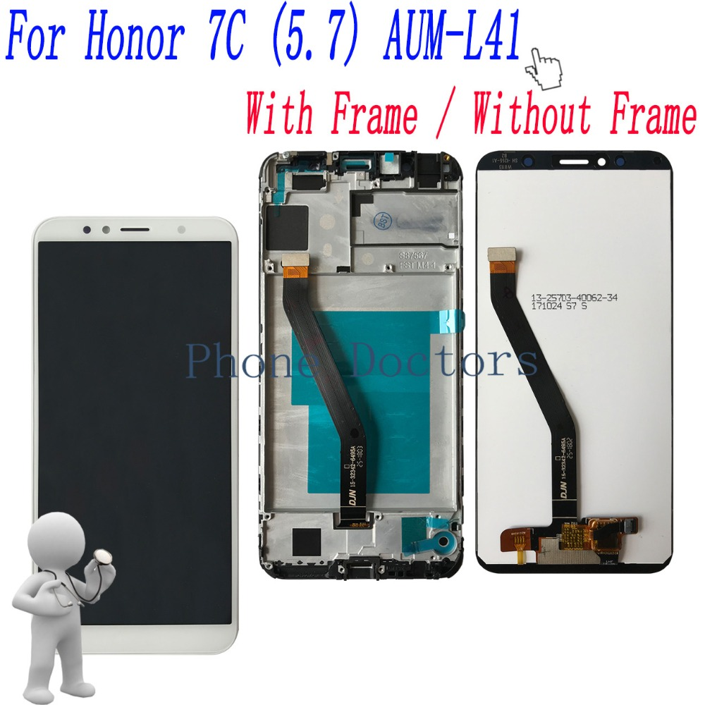 Frame-Cover-Assembly Touch-Screen Huawei Honor Full-Lcd-Display Digitizer for 7c/5.7/Aum-l41