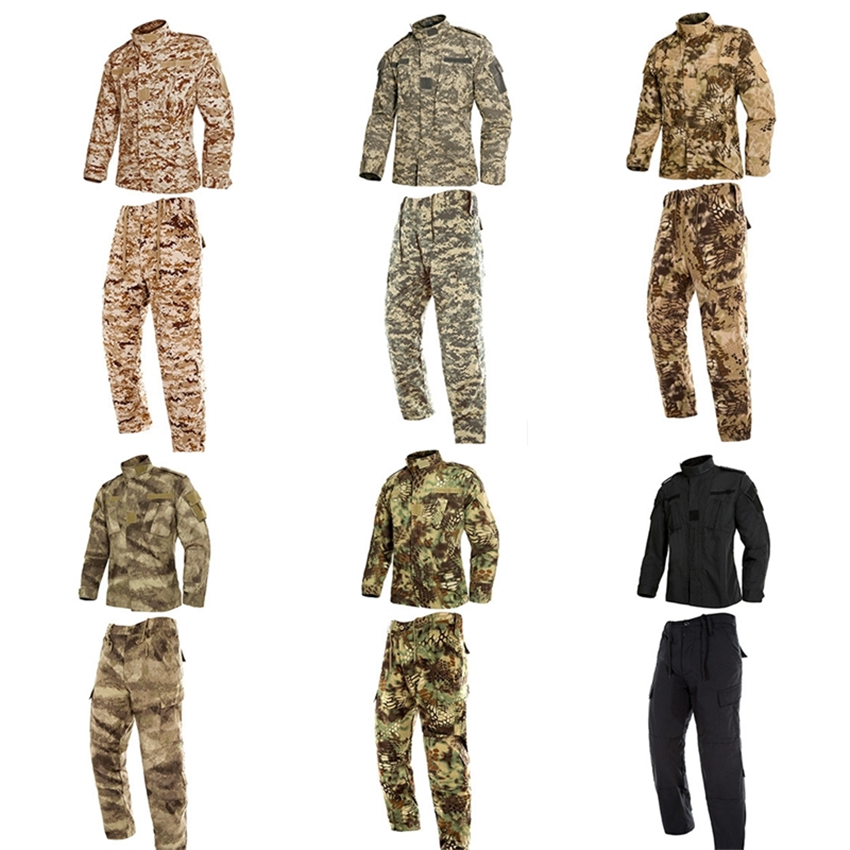 3ec2c71066945 Detail Feedback Questions about 9Color Men Army Military Uniform Tactical  Special Forces Combat Camouflage Us Militar Soldier Clothes Pant Set for  Mans ...