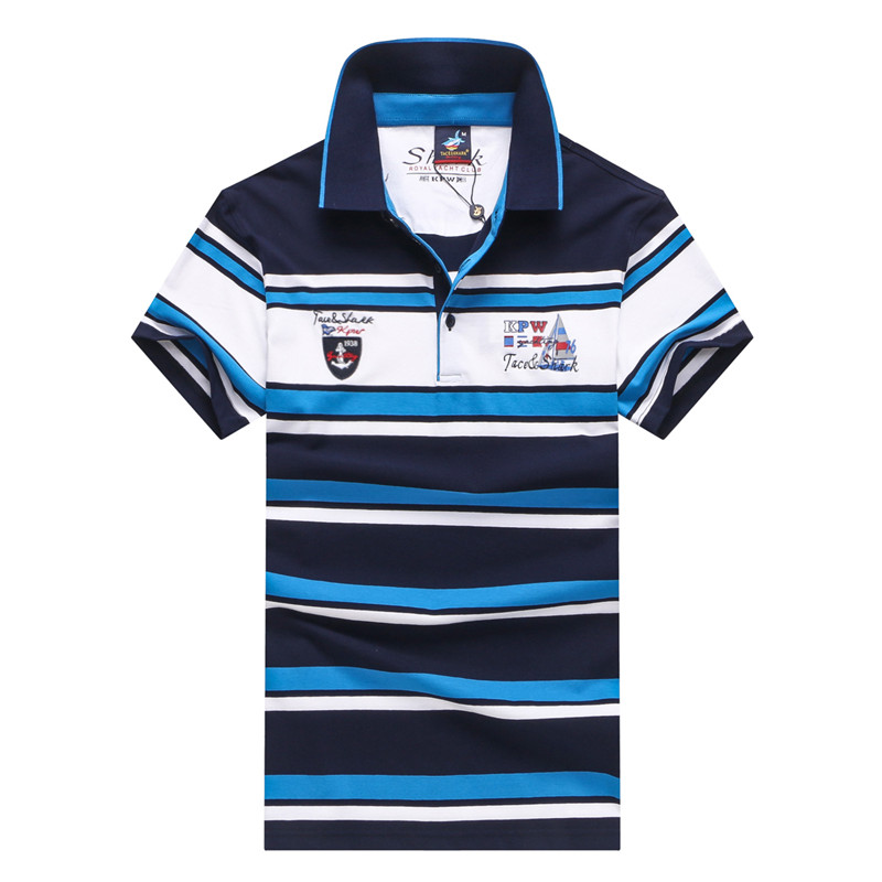 New men clothes 2018 brand Tace & Shark   polo   shirt men short sleeve striped