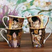 Creative bone china mug large capacity simple couple ceramic water cup breakfast milk coffee cup WF627141