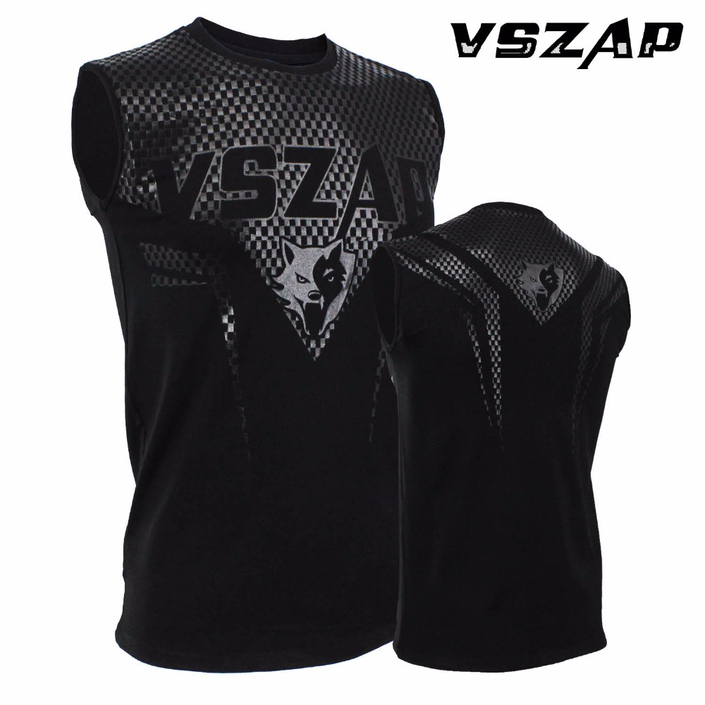 VSZAP Sleeveless Boxing Jerseys MMA T-shirt Fitness Training Gym T Shirt Combat Fighting Wolf Running Tank Muay Thai T Shirt