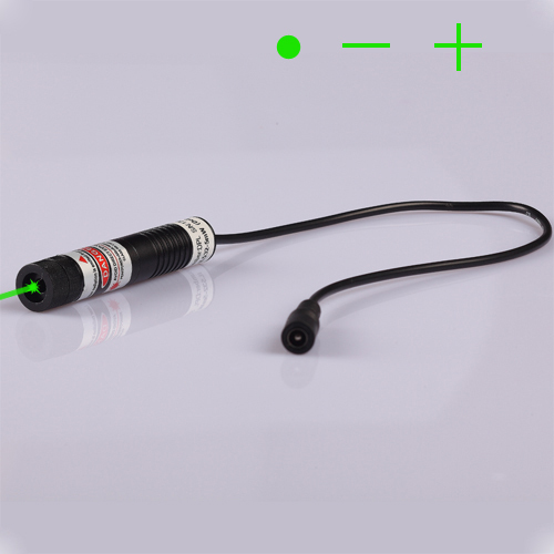 ФОТО 532nm 20mW Green Laser module with LINE laser beam, together with power adpater Plug and use