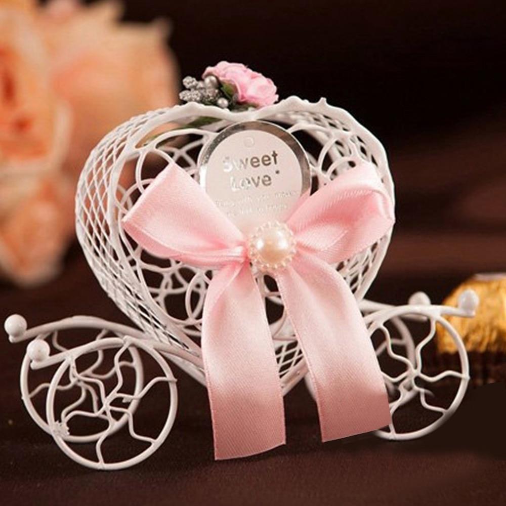 20pcs Romantic Euramerican Carriage Cart Iron Art Wedding Favors ...