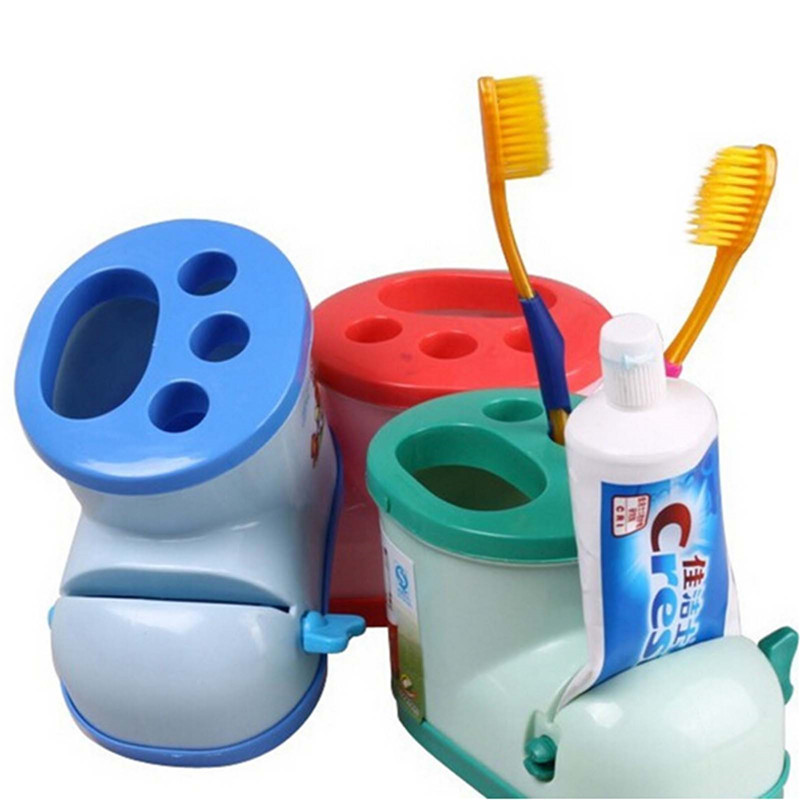 Toothbrush Holder Bathroom Boots Design Style Toothbrush Holder Stationery Toothpaste Squeezer Tool(Random Color) image