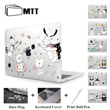 MTT Cute Cartoon Case For Macbook Air Pro Retina 11 12 13 15 Touch Bar Crystal Hard Cover for macbook air 13 inch Laptop Sleeve