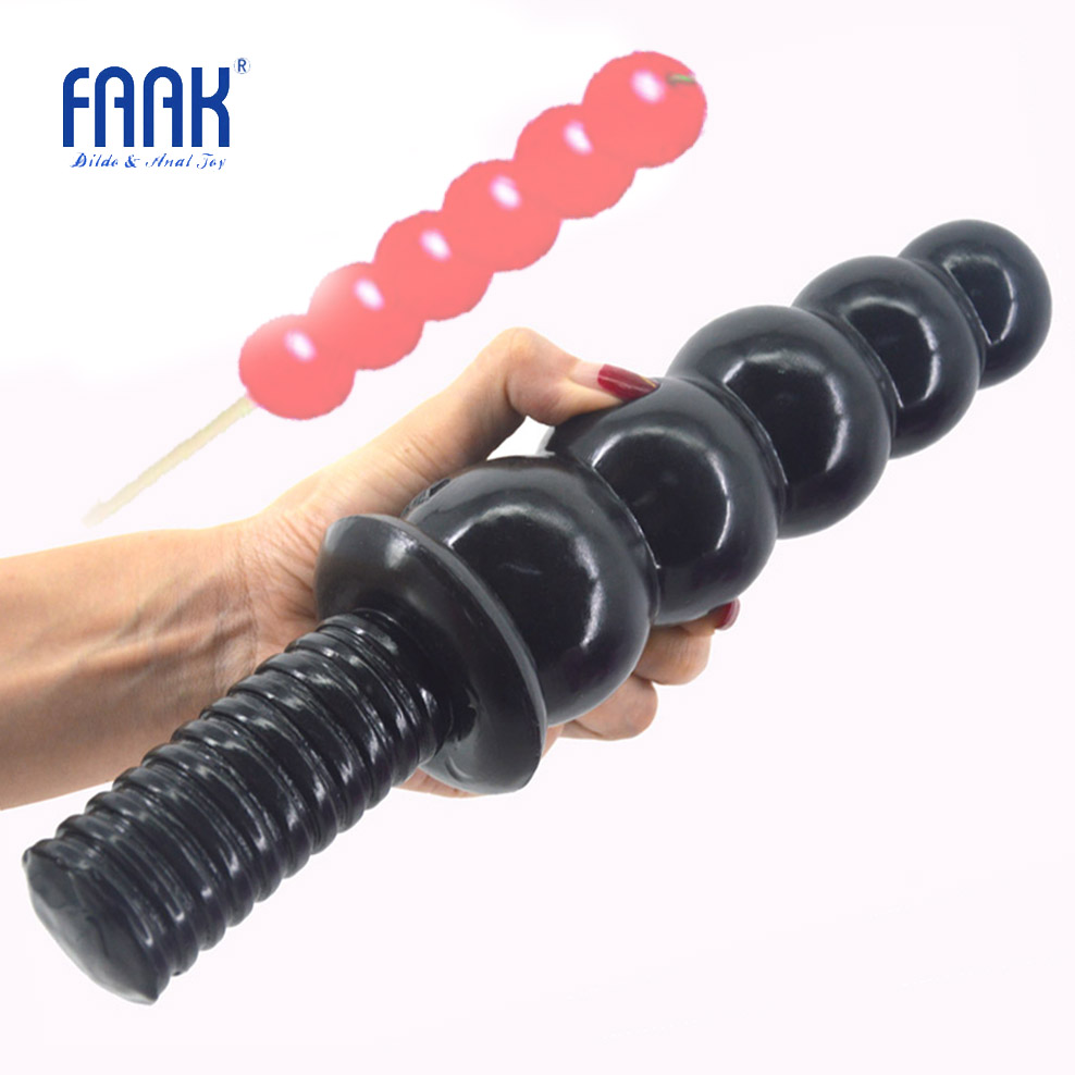 FAAK Anal Sex Toys Beads Dildo Big Dong Anal Plug Screw Handle Butt Plug Huge Penis 2.36