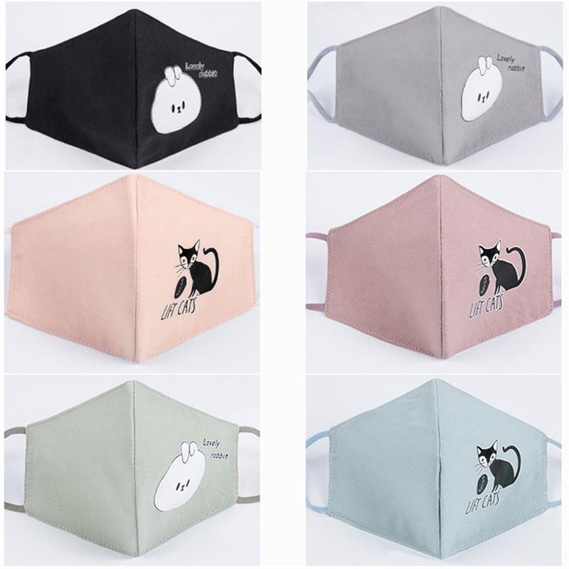 1Pcs Fashion Cats Dust Allergy Flu Masks Washable Breath Healthy Safety Respirator Face Mouth Masks For Girls And Woman Kids