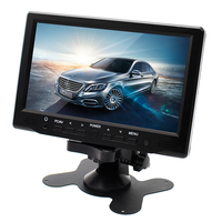 HD 800*480 Digital Screen 7 Inch TFT LCD Car Parking Monitor Auto Headrest Monitors With 2 Video Input Rearview Camera Display