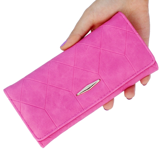 Elegant Long Embossed Suede Women's Wallet