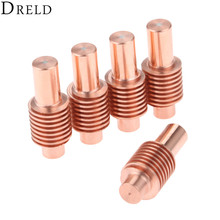DRELD 5Pcs Plasma Electrodes 120573 40A-55A for 600/800/900 Cutting Torch Consumables Standard/Shielded/Gouging Processes