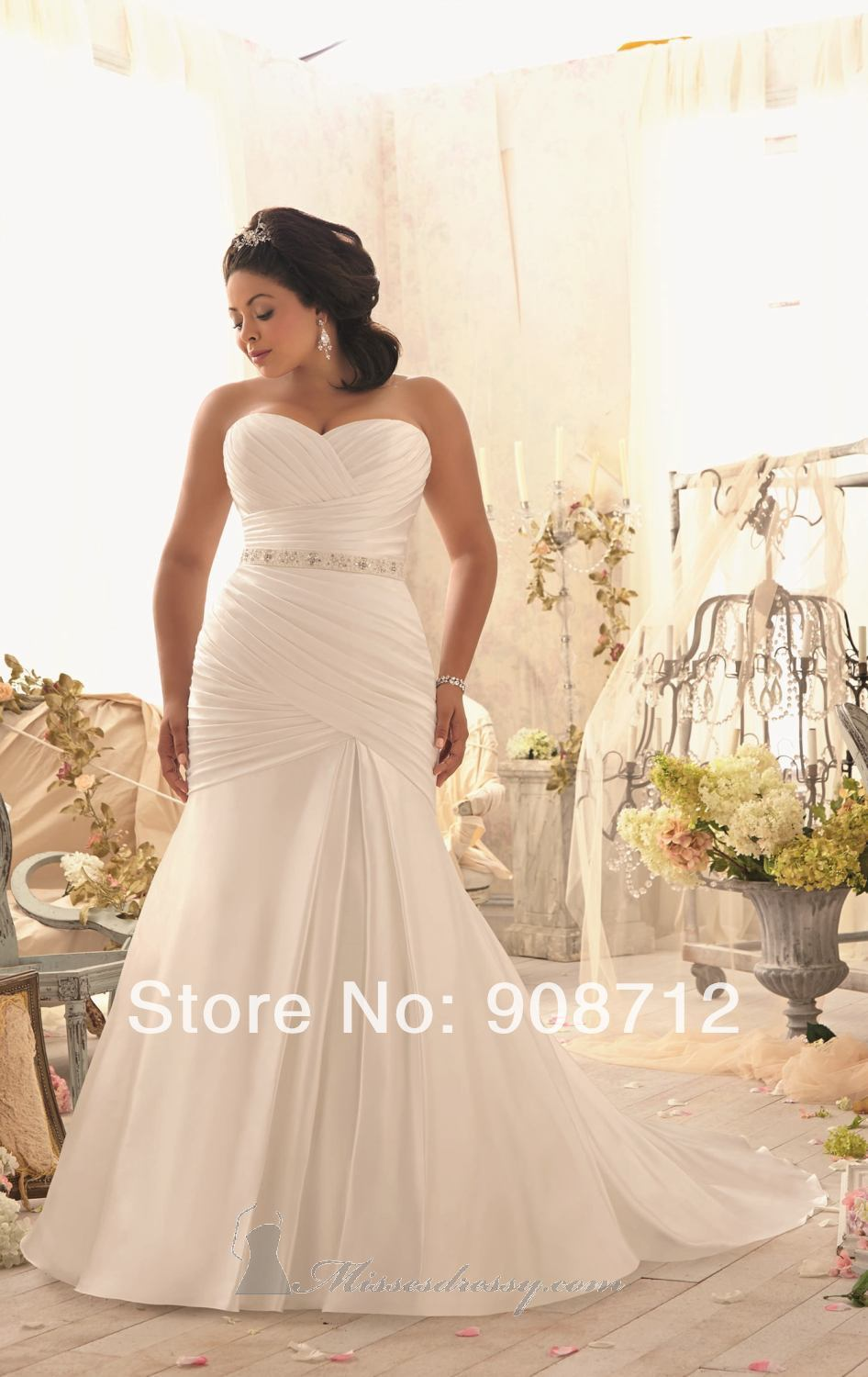 Hot Sell! Fit and flare Strapless Satin Designer Stunning ...