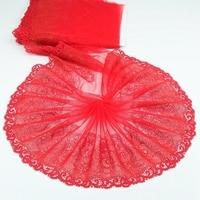 2 Yards or + rouge haute qualité dentelle garniture broderie dentelle tissu maille dentelle ruban Tulle Guipure cordon dentelle couture bricolage poupée tissu