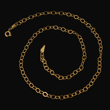Hot Promotion! Wholesale 750 Pure Gold Color Necklace Chain Fashion Jewelry Beads Chain Italy Quality Fine Chain No Change Color