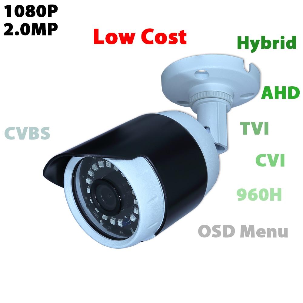 1080P Video Hybrid Analog cam AHD/TVI/CVI/CVBS 4 In 1 Output  Waterproof IR output home security 720p ahd tvi cvi cvbs 4 in 1 output video camera waterproof outdoor
