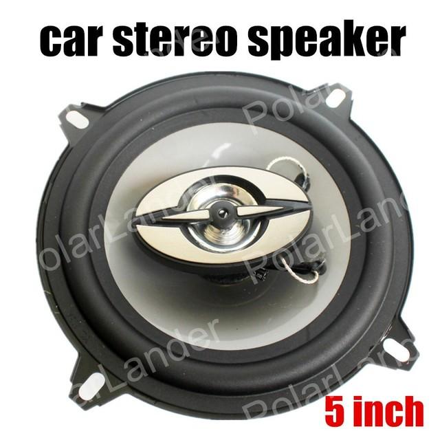 Envío libre un Par de 5 Pulgadas de altavoces Del Automóvil Coaxial Altavoces Del Coche Altavoces estéreo de Sonido bass tweeter max power music 180 W