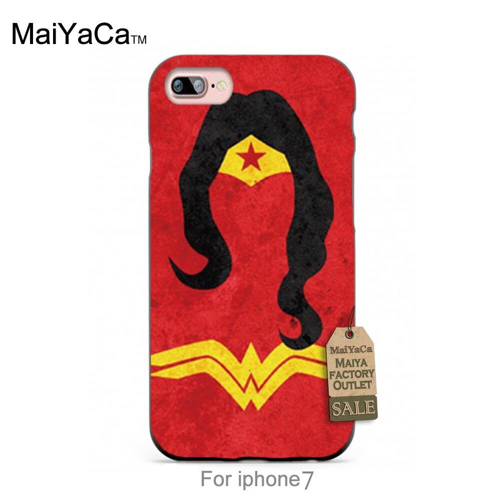 Silicone case marvel hero superwoman carttoon diseño fresco de la muchacha color