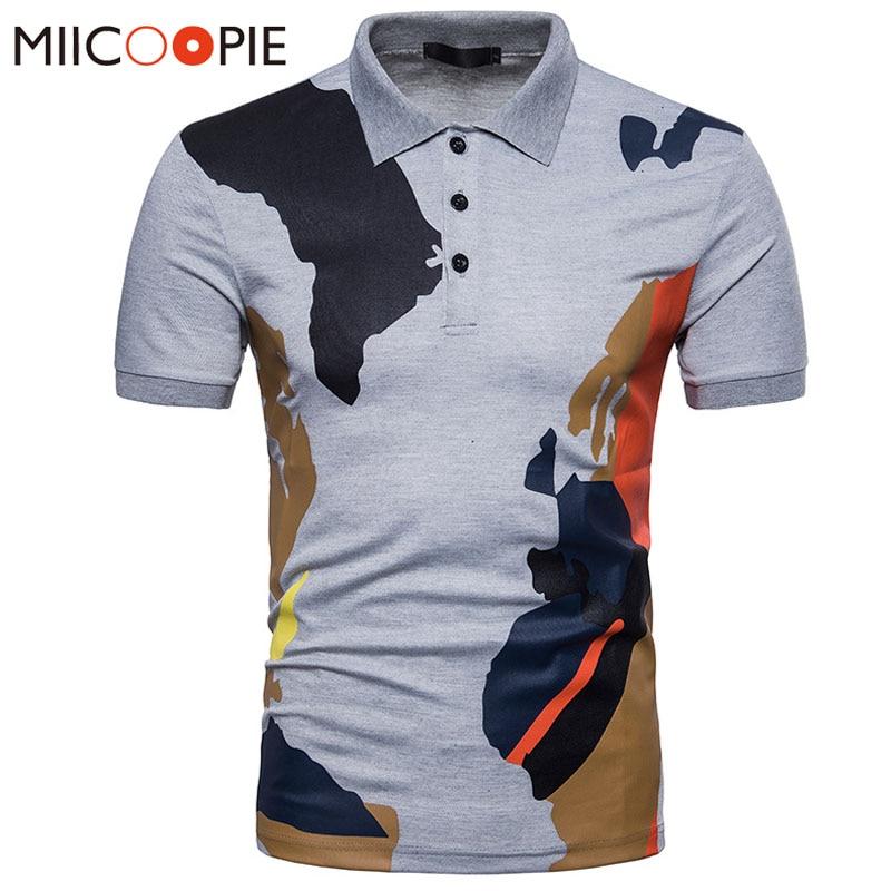 New Summer Mens   Polo   Shirt Short Sleeve Solid Camouflage Printing Shirts Camisa   Polos   Masculina Casual Cotton Slim Tops Tees XXL