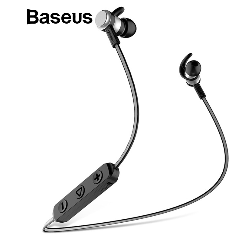 Baseus S01 Bluetooth Earphone Wireless Headsets For iPhone Samsung Xiaomi Magnetic Switch Earbuds Auricular Bluetooth Earpieces sport running bluetooth earphone for samsung galaxy ace plus gt s7500 earbuds headsets with microphone wireless