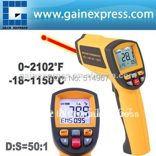50:1 Digital Professional Non-contract IR Infrared Laser Thermometer 0.1~1EM Pyrometer -18~1150 deg.C / 0~2102 deg.F Range benetech lcd digital infrared thermometer pyrometer laser point temperature gm300 meter free shipping