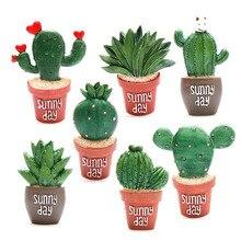 ( 7 pieces / set )Creative lovely fleshy cactus plant flowers fridge magnet
