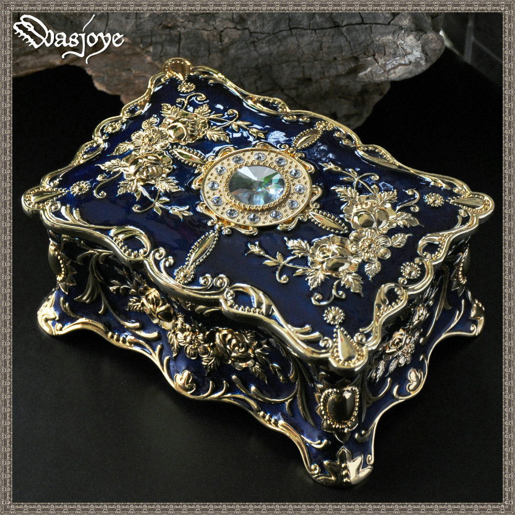 Charm Pandora Painted European Style Korean Princess Jewelry Box Double Deck Jewelry Box Ring GiftCharm Pandora Painted European Style Korean Princess Jewelry Box Double Deck Jewelry Box Ring Gift