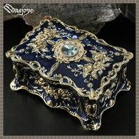 Fascino Pandora Dipinto Stile Europeo Contenitore di Monili Principessa Coreana A Due Piani Jewelry Box Anello Regalo