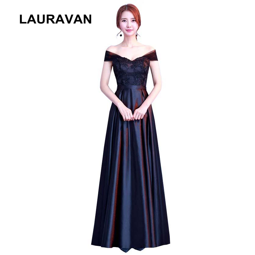 Girl Princess Convertable Wrap Womens Briadsmaids Dress 2019 Long Black Bridesmaid Satin Dresses Ball Gowns Formal Gown