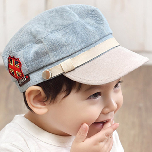 baby hat  cotton polyester black  army green red  light gray  dark gray kids lovely  pattern skull elastic hat Flat cap