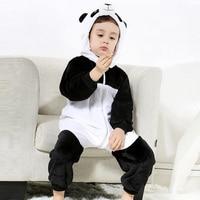New Baby Romper Kostium Niemowlę Zwierząt Pajacyki Kombinezon Śliczne Flanelowe Boy Dziewczyna Odzież Panda YH-17