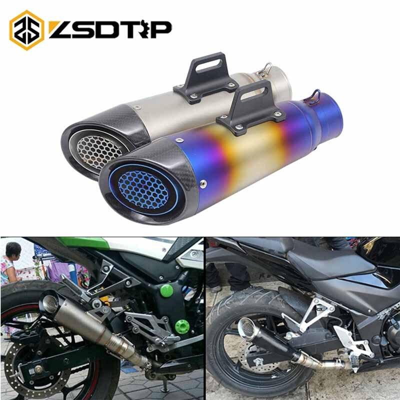 ZSDTRP 60mm Moto tuyau d'échappement modifié évasion Moto SC silencieux d'échappement système complet pour CBR1000 GSR750 ER6N Z750 S1000RR