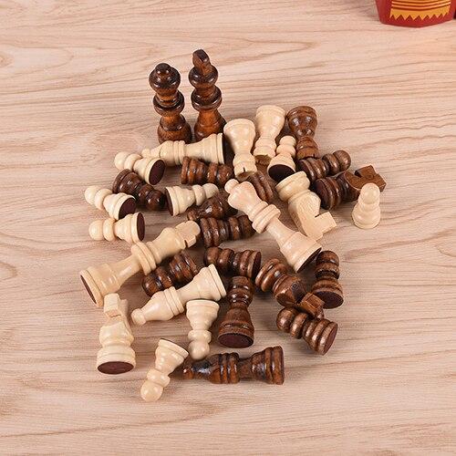 32 adet yüksek dereceli komik ahşap satranç parça ızgara uluslararası dama satranç tahtası oyunu spor eğlence