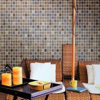 Modern 3d mosaic waterproof pvc embossed bathroom kitchen wall wallpaper plaid wallcoverings mosaic wall paper rolls