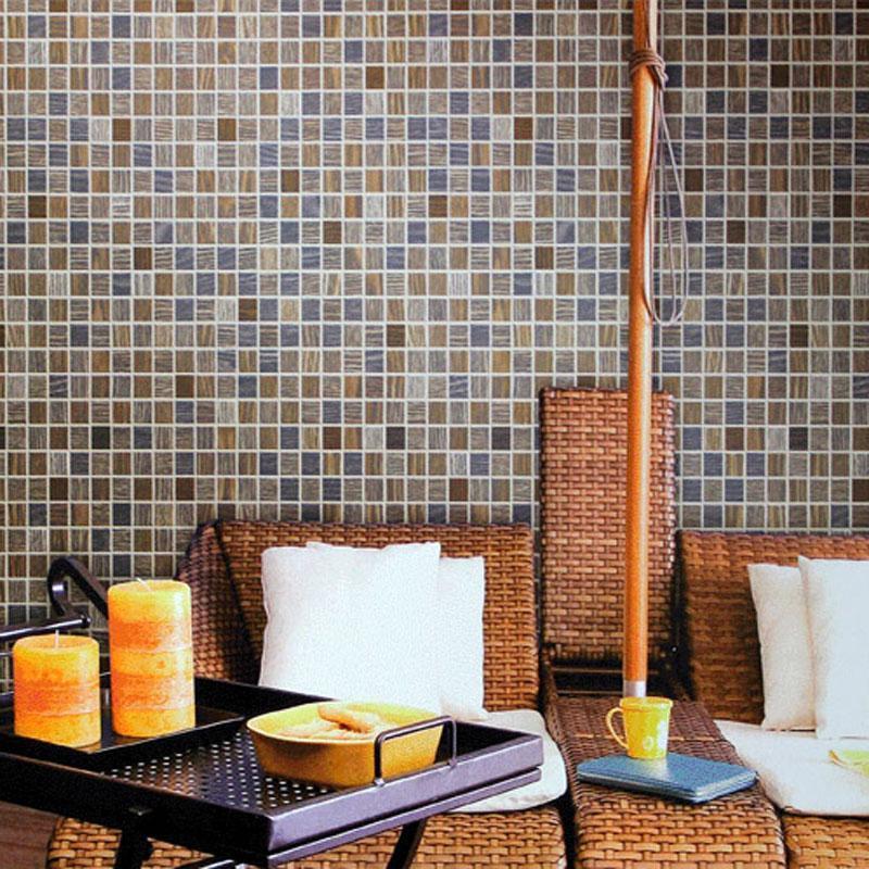 Moderne 3d mosaïque étanche pvc en relief salle de bains cuisine mur papier peint plaid revêtements muraux mosaïque papier peint rouleaux