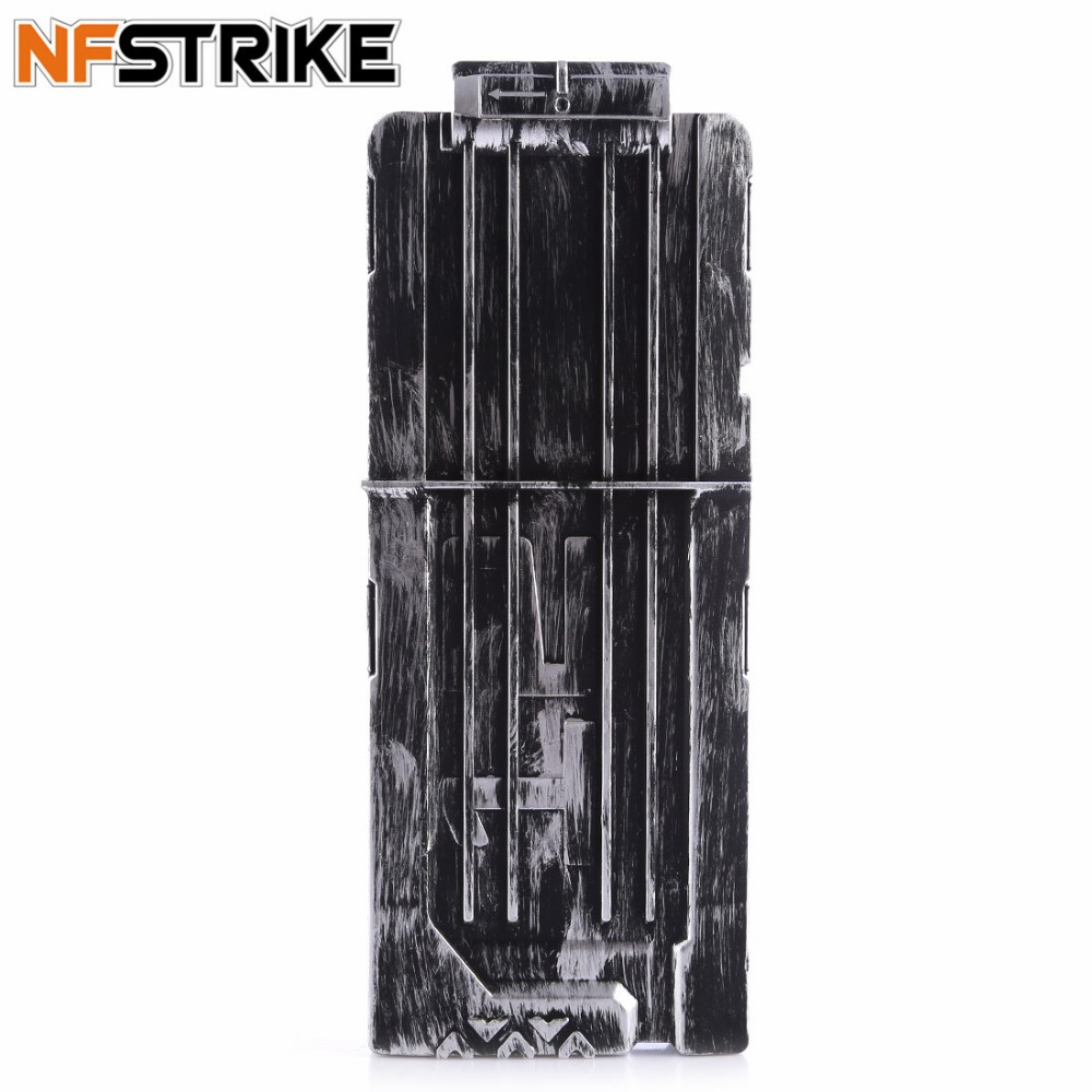 NFSTRIKE 12 Bullets Frosting Retro Soft Bullet Clips Soft Air Blaster Cartridge Holder For Nerf Toy Gun Magazine Clip -2018