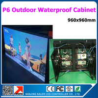 TEEHO Outdoor led video wall high pixel consumption good performance full color video led wall p6 waterproof outoor led cabinet