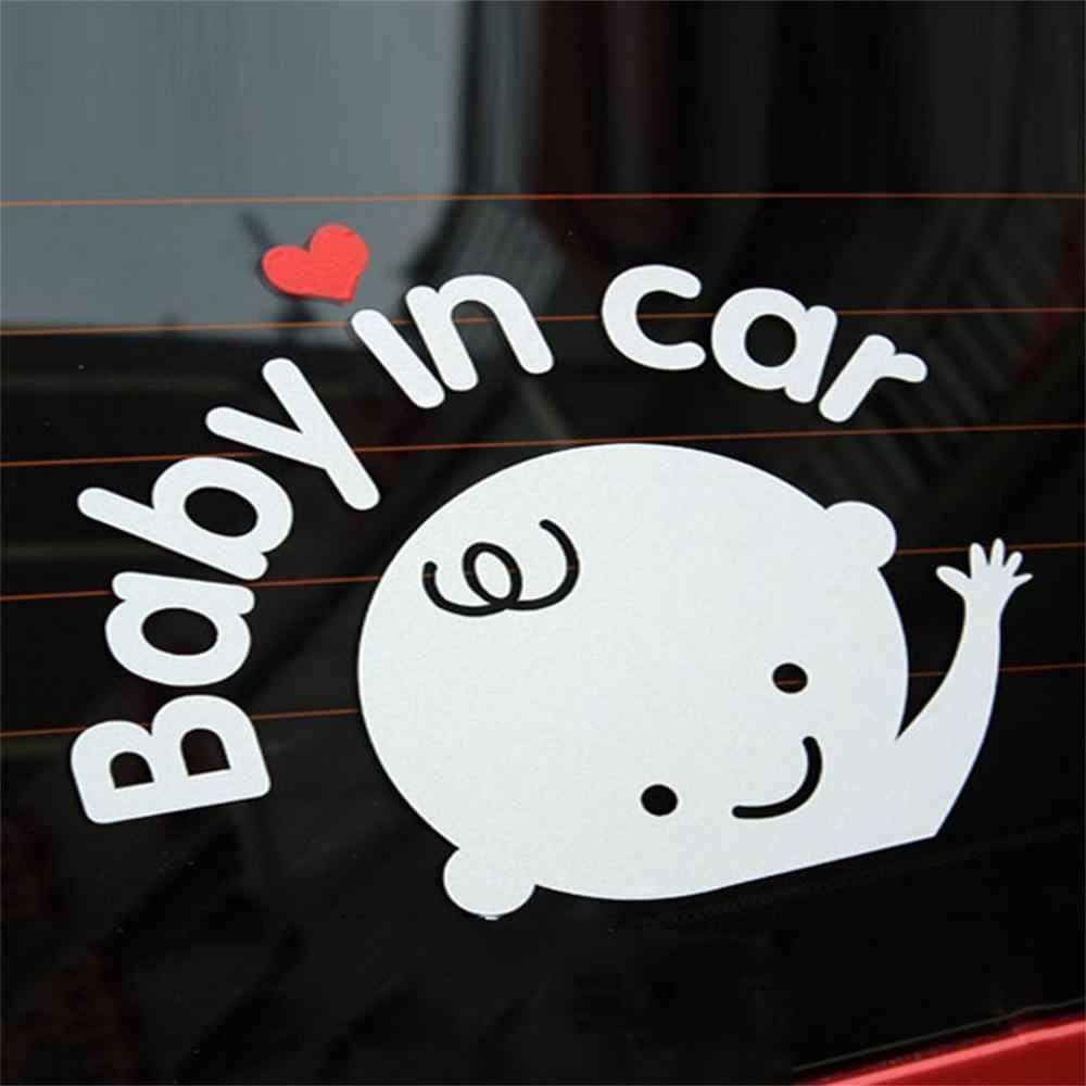Wodoodporna odblaskowe samochodów naklejka na tylnej szybie Auto 3D Cartoon kreatywny 17*14 cm dziecko na pokładzie dziecko w samochód naklejki samochodowe