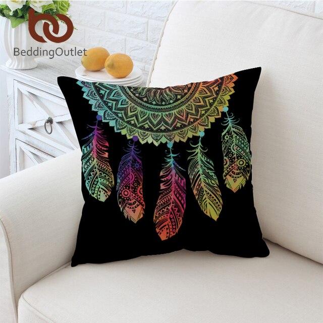BeddingOutlet Dreamcatcher Fodere per Cuscini Piume Colorate Coperture per Cusci