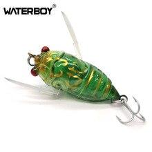 HAOS 4cm 5.5g Cicada Shape Fishing Baits Performance Wakebait Tackle with VMC Treble Barb Hooks