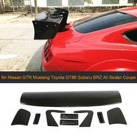 Car Rear Trunk Wing Spoiler for Ford Focus Nissan GTR Mustang Toyota GT86 Subaru All Sedan Coupe Carbon/FRP Big Barb Universal