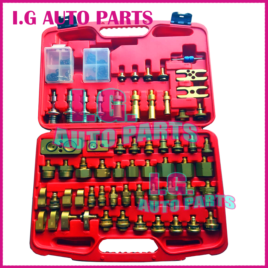NEW AUTO AC COMPRESSOR LEAKING TESTING REPAIRING BOX R134A FOR EUROPE / JAPANESE CARS TEST TOOLS SET