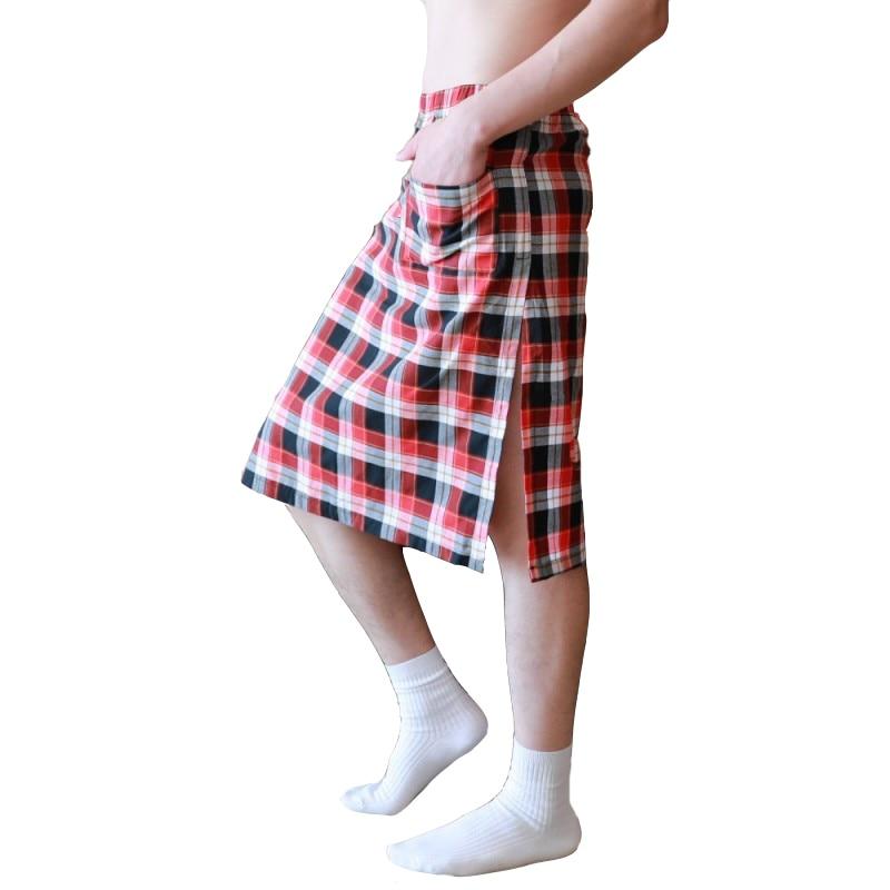 KWAN.Z Pajamas For Men Breathable Quick-dry Pijama Hombre Loose Sleepwear Grid Men's Pajamas Sleep Bottoms Men Clothing