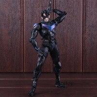 DC Comics Figure Batman Arkham Knight Action Figure No.6 Nightwing Play Arts Kai PVC Collectible Model Toy 25cm