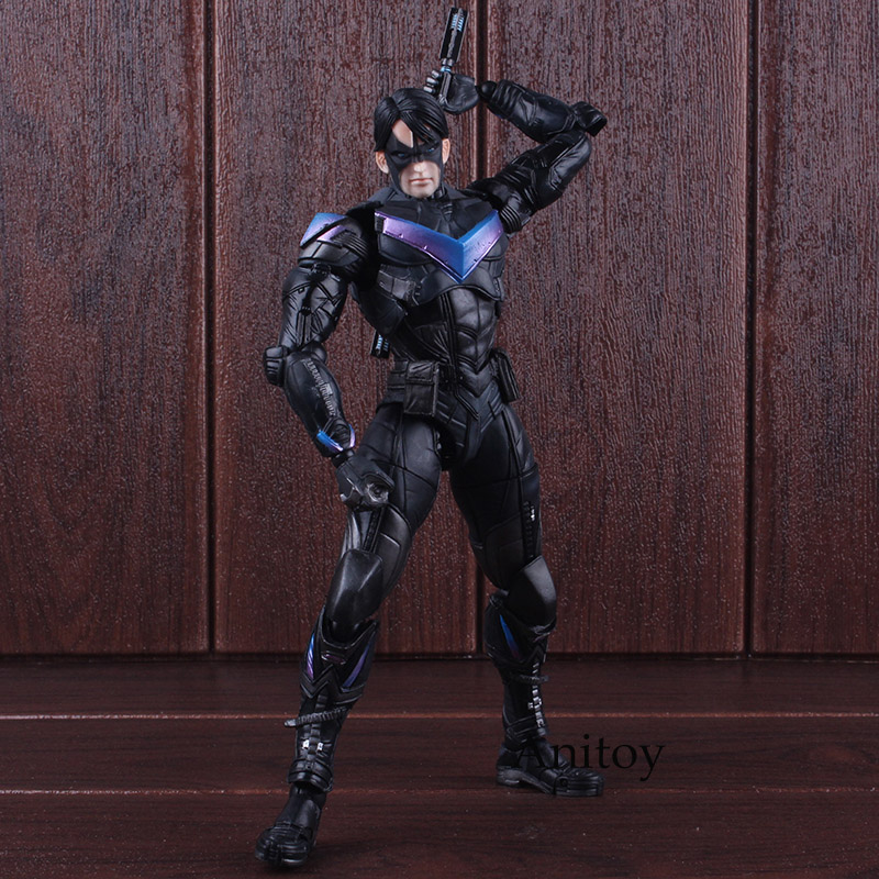 DC Comics Figure Batman Arkham Knight Action Figure No.6 Nightwing Play Arts Kai PVC Collectible Model Toy 25cm