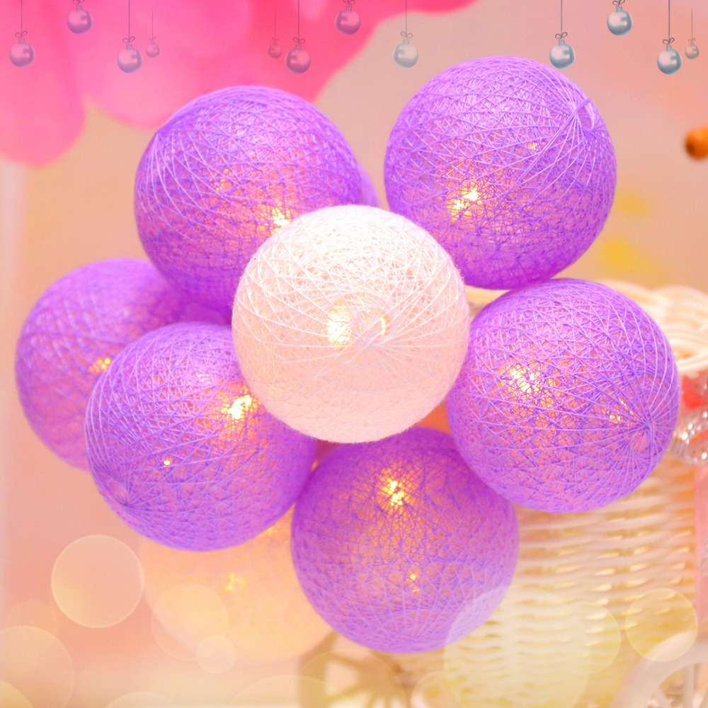1M LED Strings Light With 10 pcs 5CM Cotton Wire Balls Fairy Holiday - Holiday Lighting
