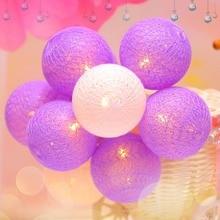 1M LED-strängar Ljus med 10 st 5cm Bomull Wire Balls Fairy Holiday Lights För Jul Bröllop Party Bedroom Decoration JQ