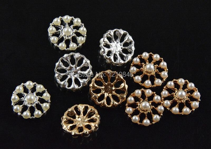 День Святого Валентина цветок жемчужина Кнопка свадебная корона принцесса девушки волосы платье обувь аксессуары 400 шт/партия
